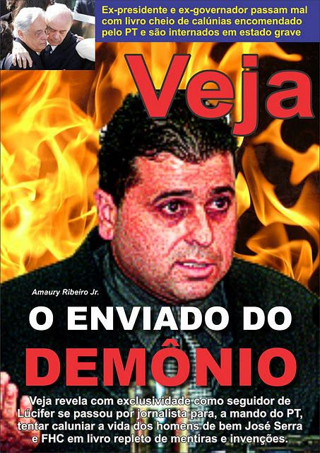 Amaury Ribeiro Jr. Capa da Veja sobre o livro de Amaury Ribeiro A Privataria Tucana