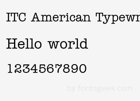 American typewriter font free alternative dating