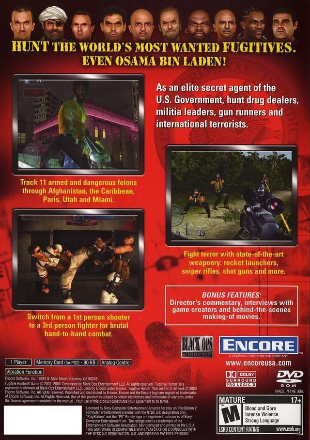 America's 10 Most Wanted Fugitive Hunter War on Terror USA ISO lt PS2 ISOs Emuparadise
