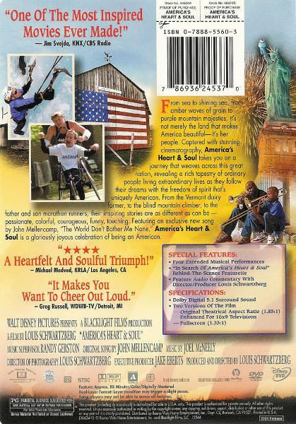 America's Heart and Soul Walt Disney Presents Americas Heart and Soul DVD 786936245370