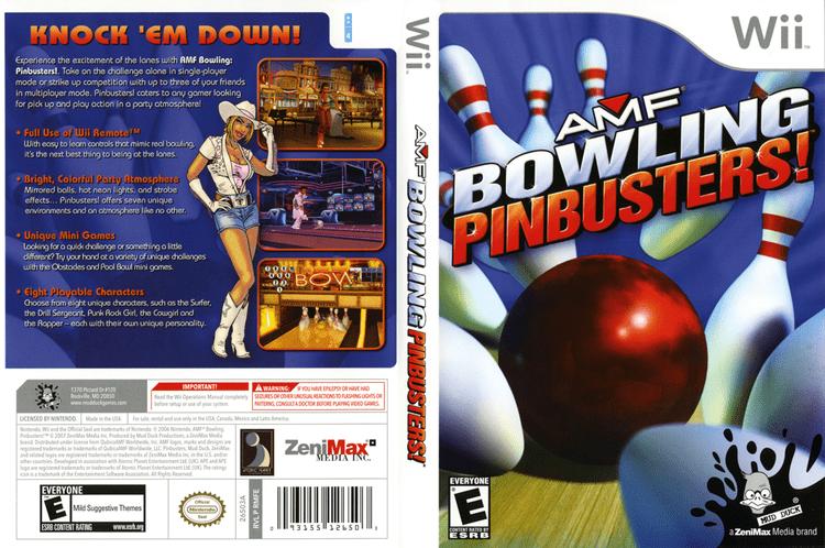 AMF Bowling Pinbusters! artgametdbcomwiicoverfullHQUSRMFE68png