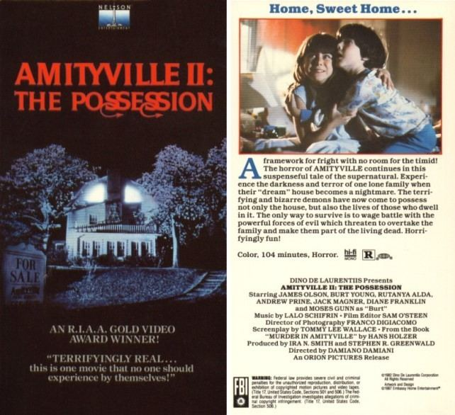 Amityville II: The Possession Amityville II The Possession 1982