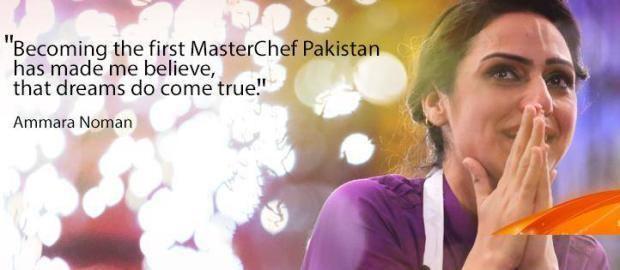 Ammara Noman First Pakistan Masterchef Ammara Noman Pakistan Images Photos