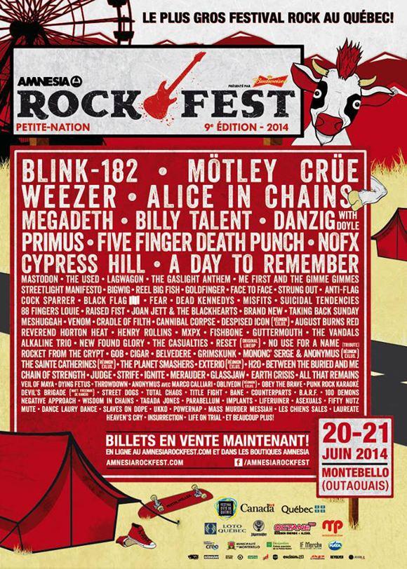 Amnesia Rockfest Past lineups MONTEBELLO ROCKFEST JUNE 2225 2017