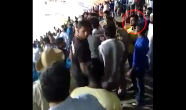 Amoes Do Shocking Mumbai FC player Amoes Do fights with Bengaluru FC fans