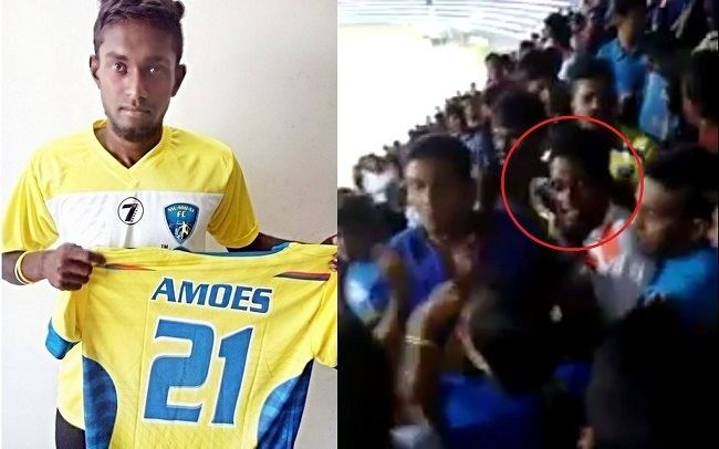 Amoes Do Mumbai FCs Amoes Do confronts Bengaluru FC fans as ILeague match