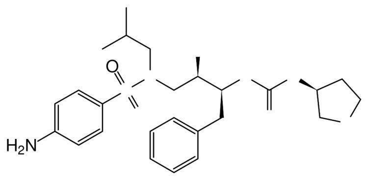 Amprenavir FileAmprenavir skeletalsvg Wikimedia Commons