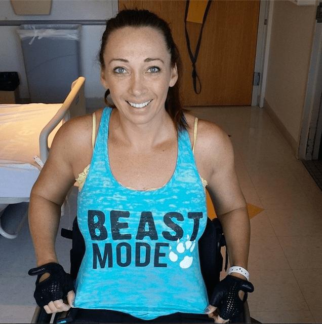 Amy Van Dyken Paralyzed Olympian Van DykenRouen Takes First Steps With