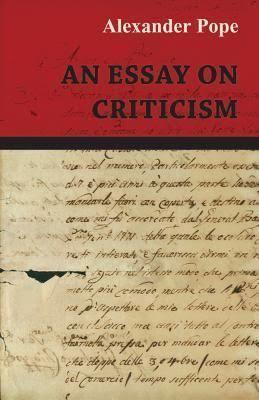 An Essay on Criticism t0gstaticcomimagesqtbnANd9GcTwnKusWu9S9JXWm8
