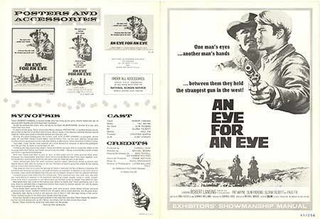 An Eye for an Eye (1966 film) Eye For An Eye movie posters at movie poster warehouse moviepostercom