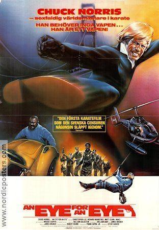 An Eye for an Eye (1981 film) An Eye For an Eye poster 1981 Chuck Norris original