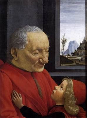 An Old Man and his Grandson wwwwgahudetailgghirlanddomenico7panel08old