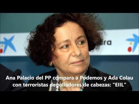 Ana de Palacio y del Valle-Lersundi Ana Palacio del PP compara a Podemos y Ada Colau con