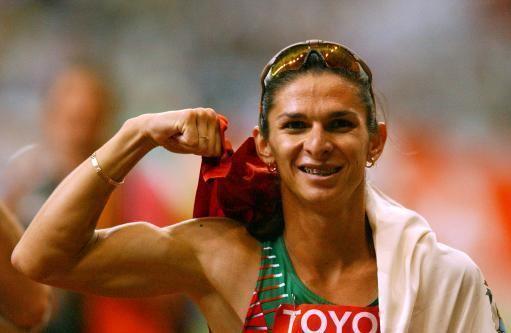 Ana Guevara Anna Guevara Flexing Biceps