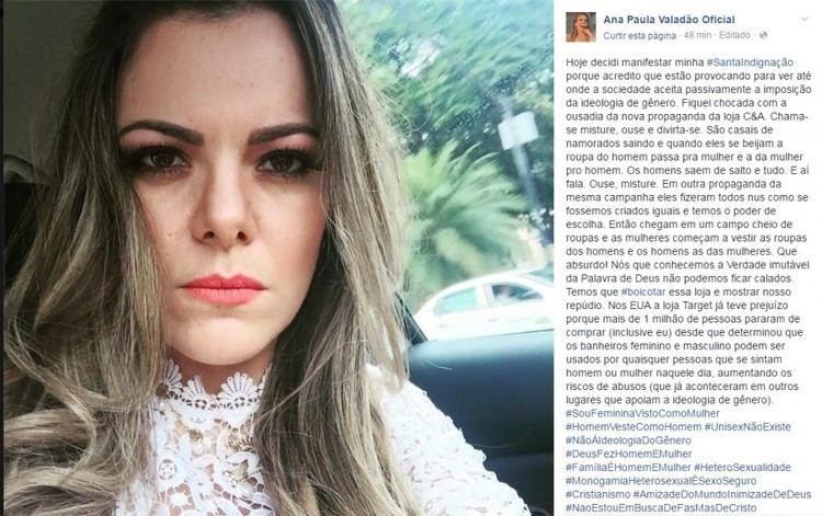 Ana Paula Valadão Cantora evanglica Ana Paula Valado prope boicote CampA por