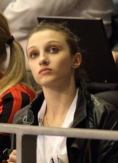 Romanian gymnast Ana Porgras on the balance beam ...  |Ana Porgras