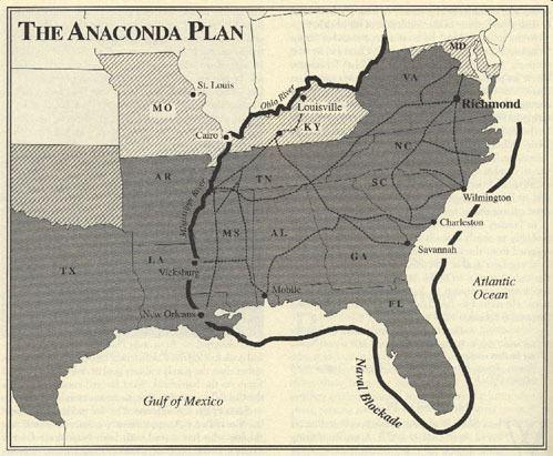Anaconda Plan The Anaconda Plan Civil War for Geniuses