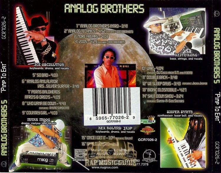 Analog Brothers Analog Brothers Pimp To Eat CD Rap Music Guide