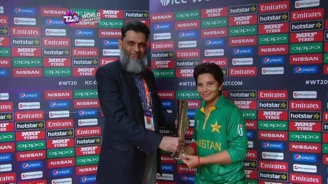 Anam Amin Player of the Match Anam Amin IND v PAK