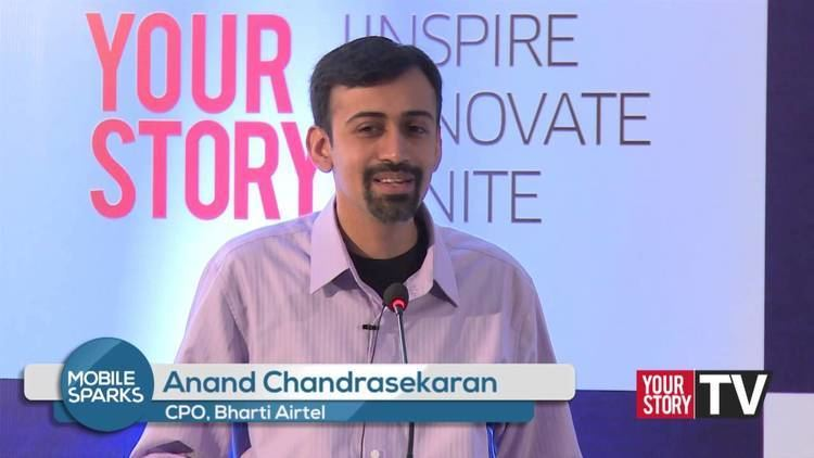 Anand Chandrasekaran Airtels CPO Anand Chandrasekaran at Mobile Sparks 2014 YourStory