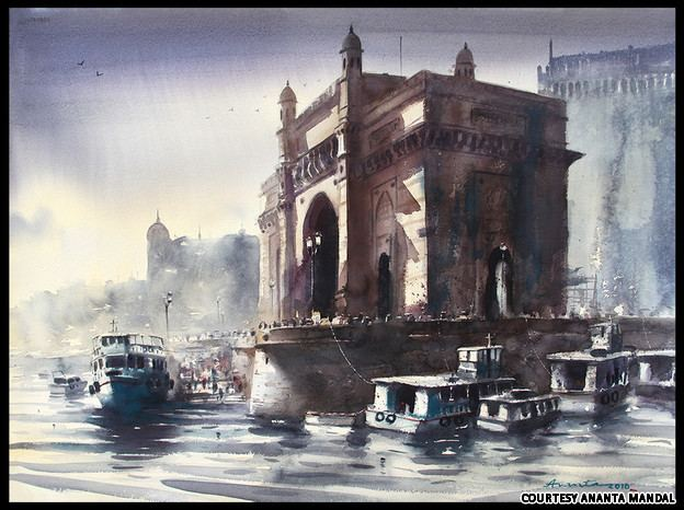 Ananta Mandal ananta mandal mumbai paintings1 Art and design