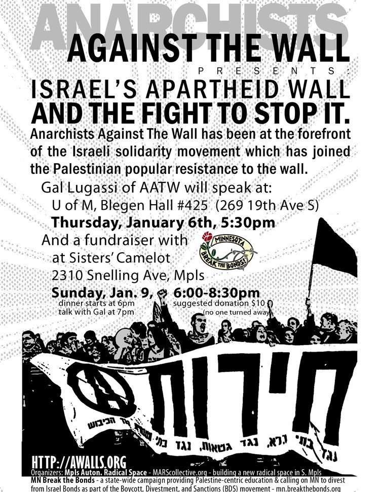 Anarchists Against the Wall 2 Events with Anarchists Against the WallJan 6 Jan 9 Minnehaha