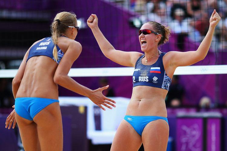 Anastasia Vasina Anastasia Vasina Photos Photos Olympics Day 5 Beach Volleyball
