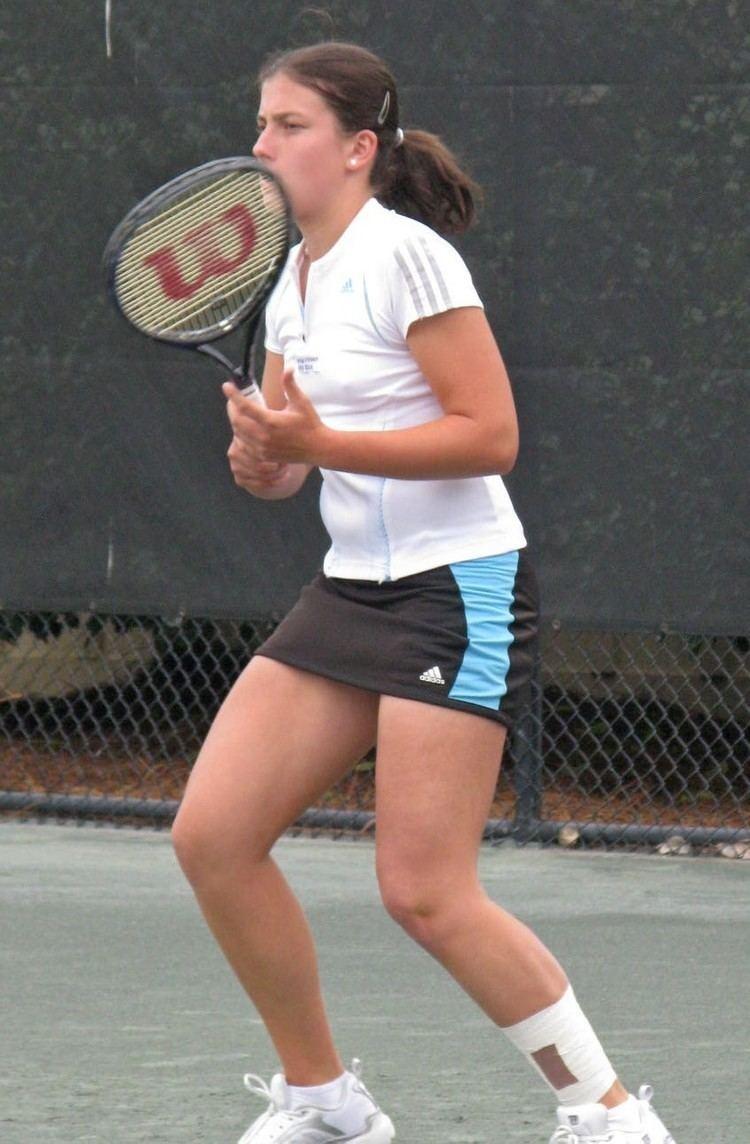 Anastasija Sevastova Anastasija Sevastova is Strapped in for the Match WTA