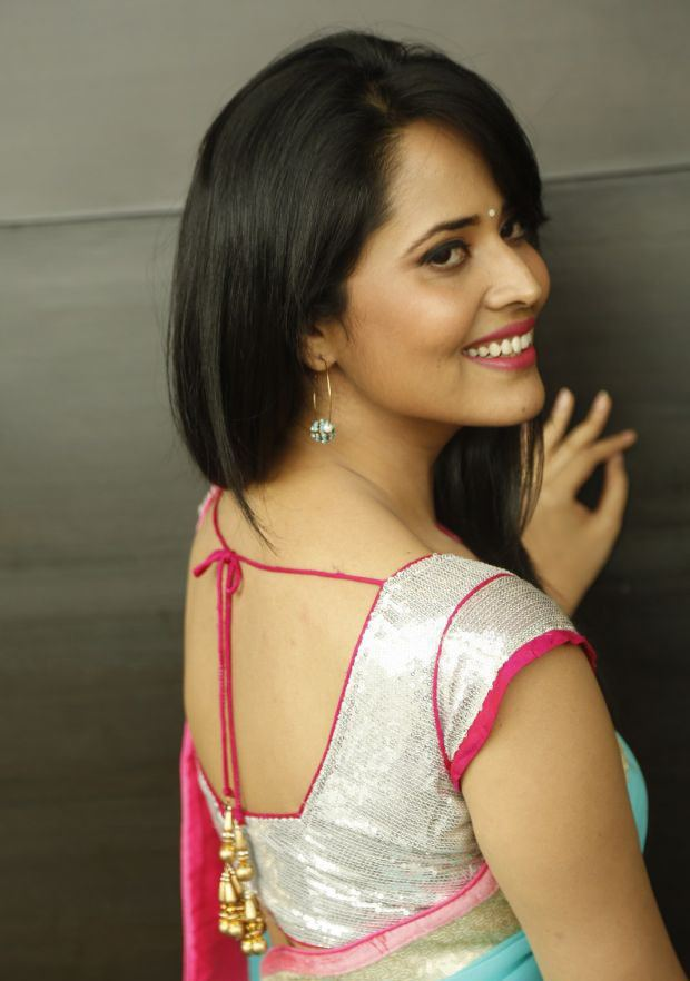 Anasuya Bharadwaj Anchor Anasuya Bharadwaj Latest Pink Blue Saree HD Photos Stills