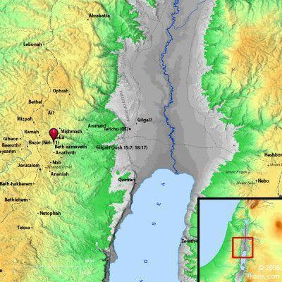 Anathoth map of anathoth Azmaveth Bethazmaveth and surrounding region