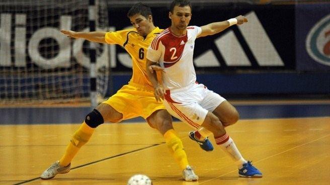 Anatoli Badretdinov Pavel Taku Kazakhstan Anatoli Badretdinov Russia Futsal