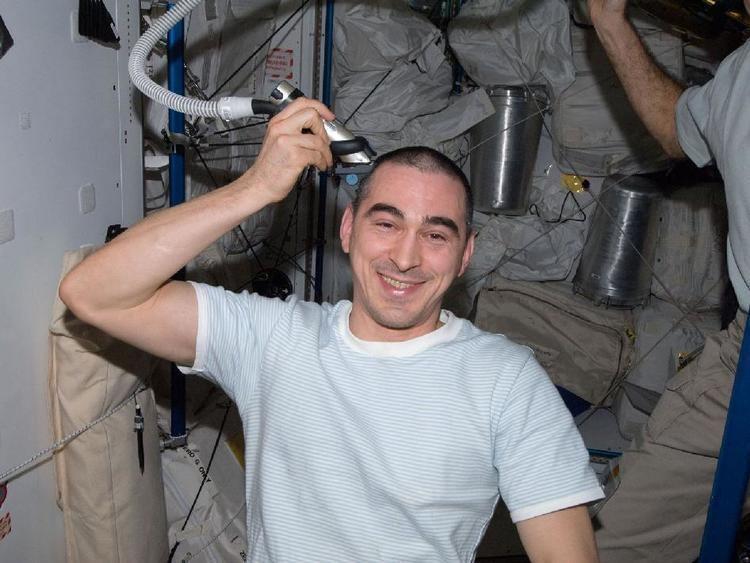 Anatoli Ivanishin NASA Haircut for Cosmonaut Anatoly Ivanishin