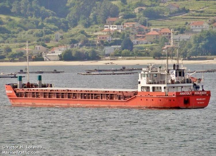 Anatoly Kolesov Vessel details for ANATOLY KOLESOV General Cargo IMO 9138733