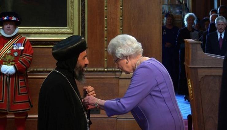 Anba Angaelos Historic prayers at St Pauls Cathedral on the same day Bishop