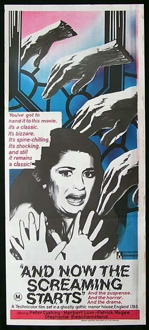 And Now the Screaming Starts! AND NOW THE SCREAMING STARTS 73 Peter Cushing AMICUS HORROR Rare poster