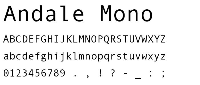 Andale Mono Andale Mono Font pickafontcom