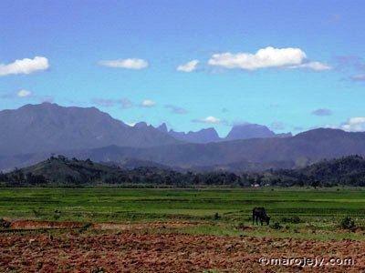 Andapa The town of Andapa northeastern Madagascar