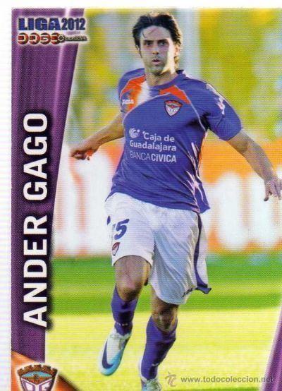 Ander Gago Cromo Ander Gago CD Guadalajara por Futmi Ander Gago