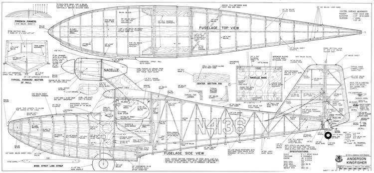 Anderson Kingfisher Anderson Kingfisher Plans AeroFred Download Free Model Airplane