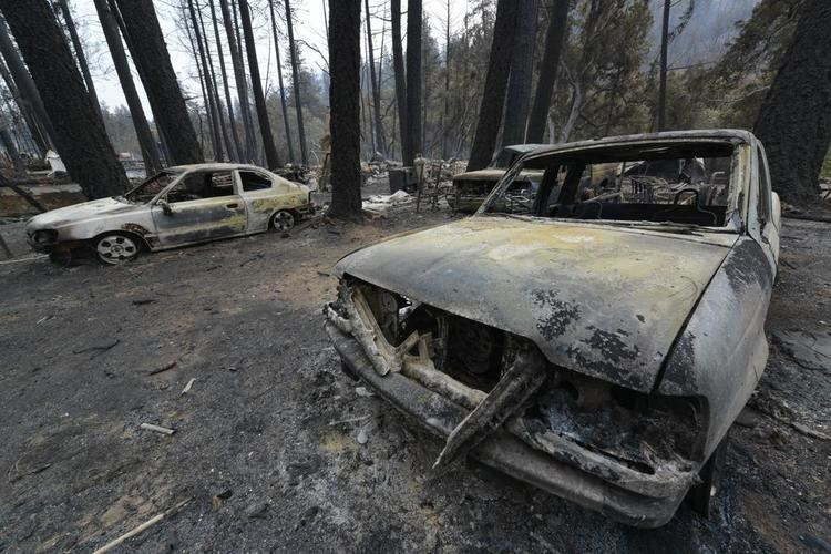 Anderson Springs, California Anderson Springs devastated by Valley Fire cooled by rain