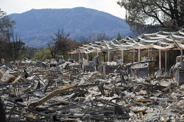 Anderson Springs, California A few live on amid ashes of Valley fire community of Anderson
