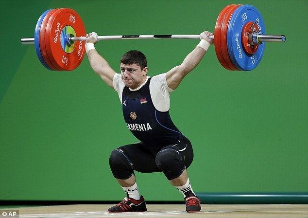 Andranik Karapetyan Armenian weightlifter Andranik Karapetyan suffers hyperextended