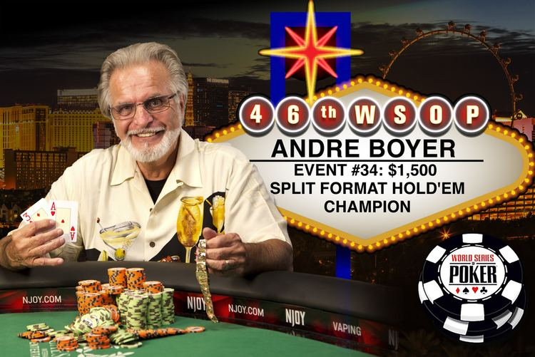 Andre Boyer (poker player) WSOP NEWS ANDRE BOYER WINS SECOND GOLD BRACELET TEN YEARS AFTER THE