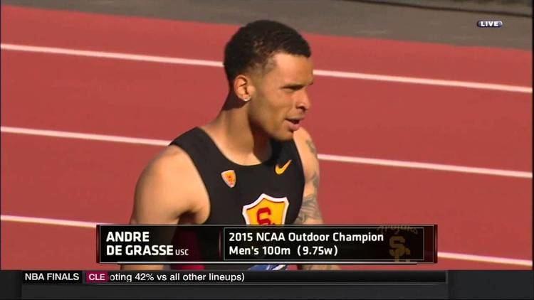 Andre De Grasse USC Track amp Field Andre De Grasse Wins NCAA 100m YouTube