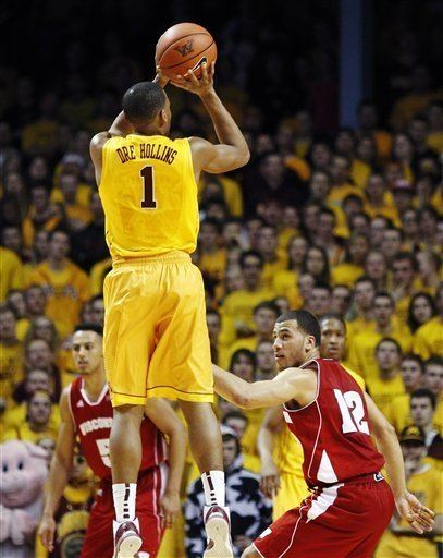 Andre Hollins Gophers basketball Why does Andre Hollins love playing Wisconsin