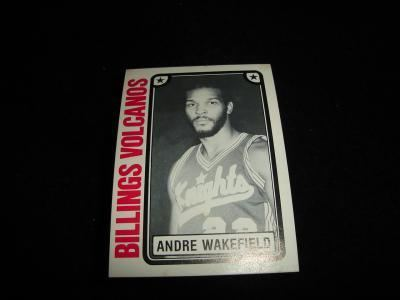 Andre Wakefield eBlueJay 1981 TCMA CBA Basketball Andre Wakefield Card 37