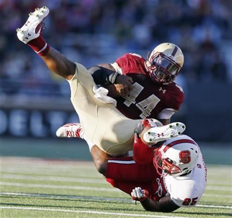 Andre Williams (American football) Boston College beats NC State 3821 bowleligible