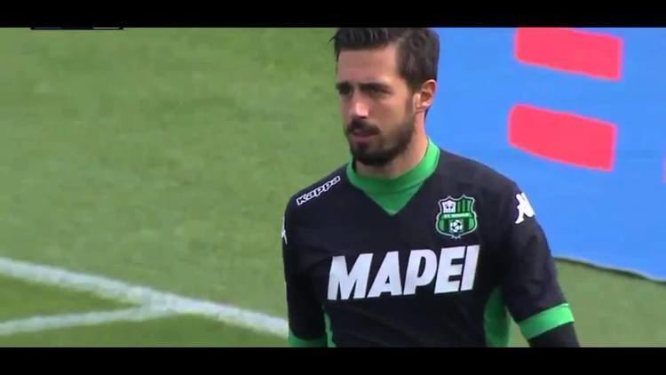Andrea Consigli Sassuolo keeper Andrea Consigli scores one of the great own goals v