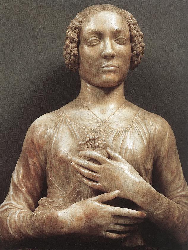 Andrea del Verrocchio Portrait of a Woman Andrea del Verrocchio WikiArtorg