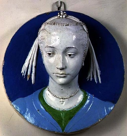 Andrea della Robbia Relief of the head of a lady Andrea Della Robbia as art